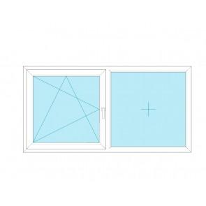 Alukonstrukt Rozwierno - uchylne + FIX