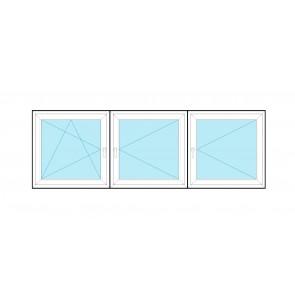 Aluplast Rozwierno - uchylne + Rozwierne + Rozwierne RU+R+R